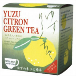 Green tea with Yuzu peel in...