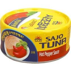 Thon cuit à la sauce piment...