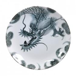 Assiette dragon noir 25.3cm