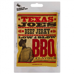 BEEF JERKY BBQ 25G TEXAS JOE'S